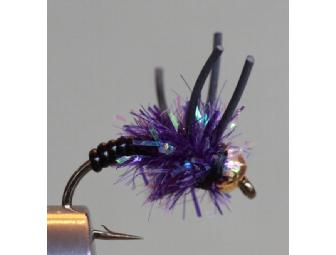 Fabulous Purple Fly Box! 175 Dries and Wets!