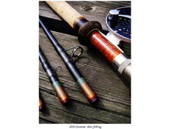 Remarkable Framed Original Artwork, Classic Salmon Flies, and Custom Spey Rod - Photo 2