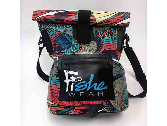 Fishe Wear's Waterproof Tote - Abstract Char Design