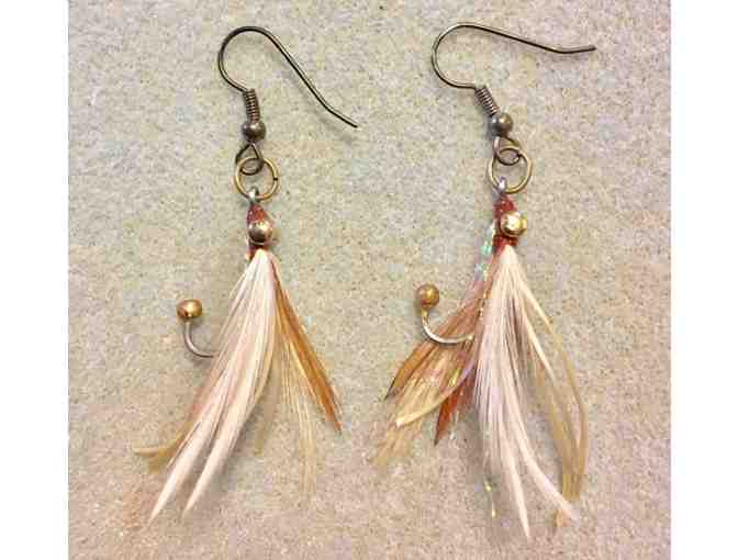 Hand-tied Fly Earrings