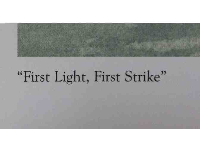'First Light, First Strike' - lithograph by Charles McCaughtry