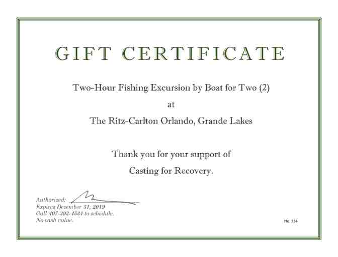 Two Hour Fishing Excursion at Ritz-Carlton Orlando, FL
