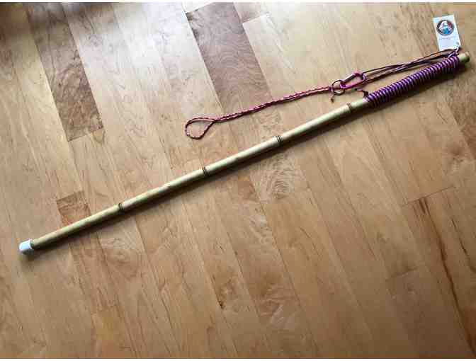 Bamboo Staff with Pink Variegated Handle