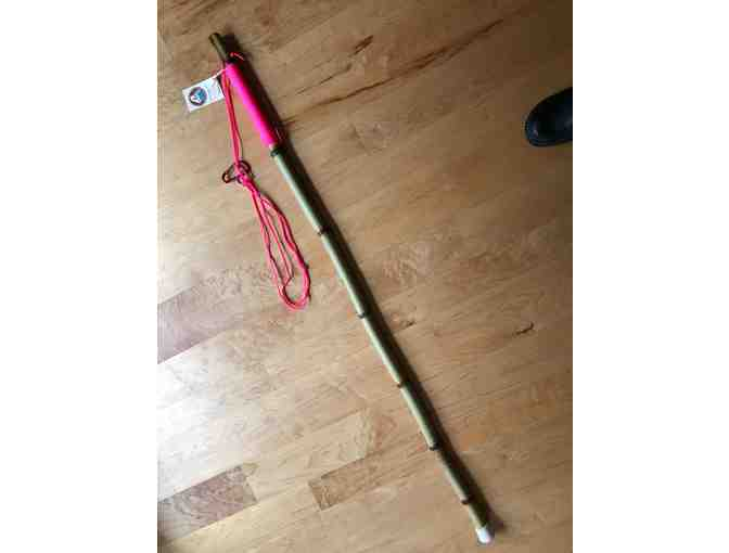 Bamboo Staff with Pink Para Cord Handle