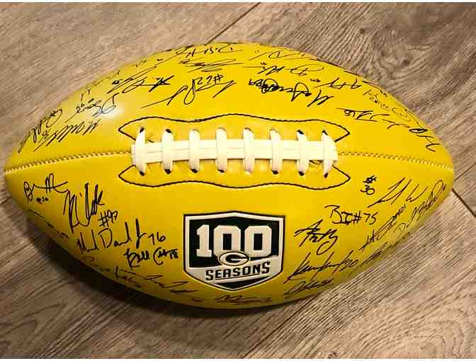 Autographed Green Bay Packers Football - the 2018 Team