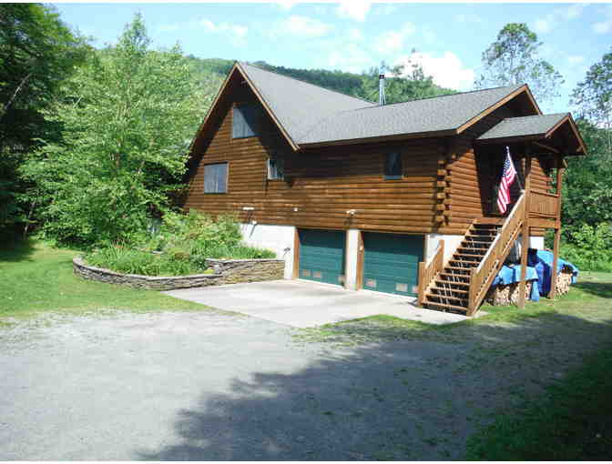 2 Nights in a Private Log Home on the Upper East Branch of the Delaware River