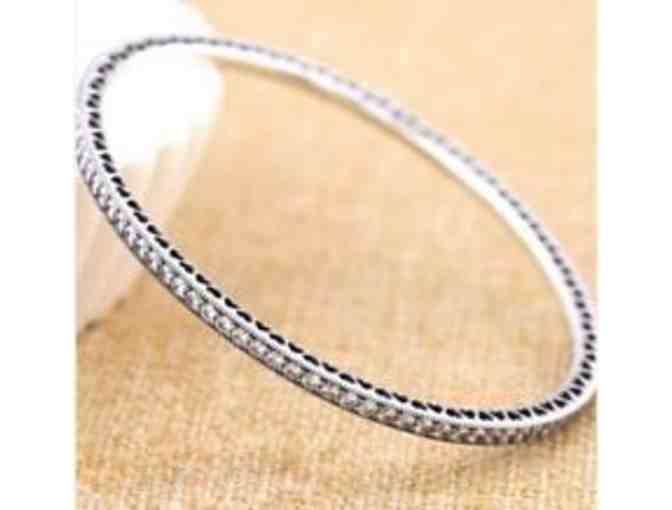 Pandora Twinkling Forever Bangle - Clear CZ 8.3 inches