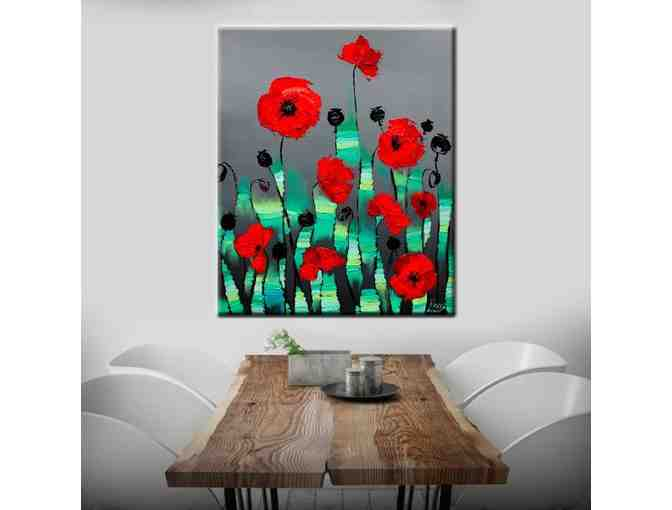 Abstract Art Canvas Prints 'Poppies' Canvas Wall Art