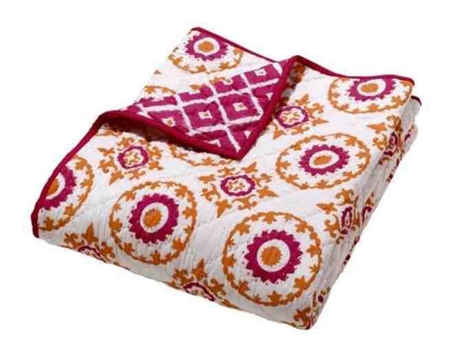 Moksha Reversible Quilt - Ziz Medallion Pink/Orange