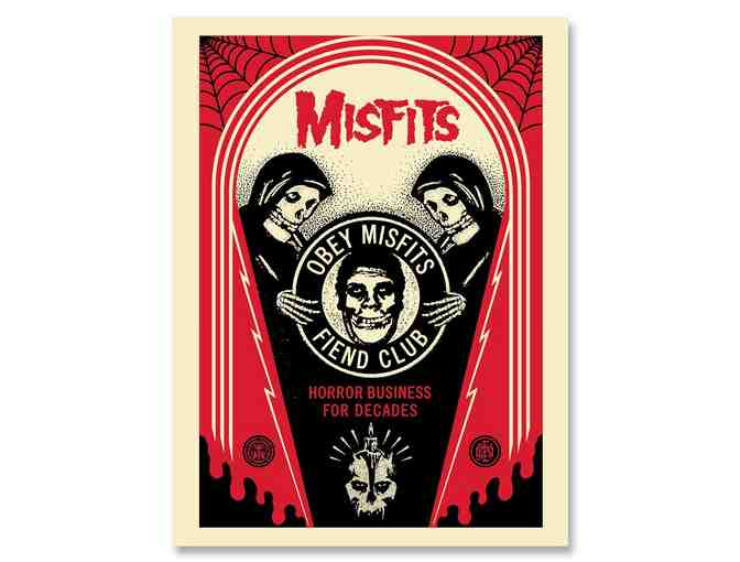 MISFITS 40th ANNIVERSARY OBEY PRINT signed by S Fairy