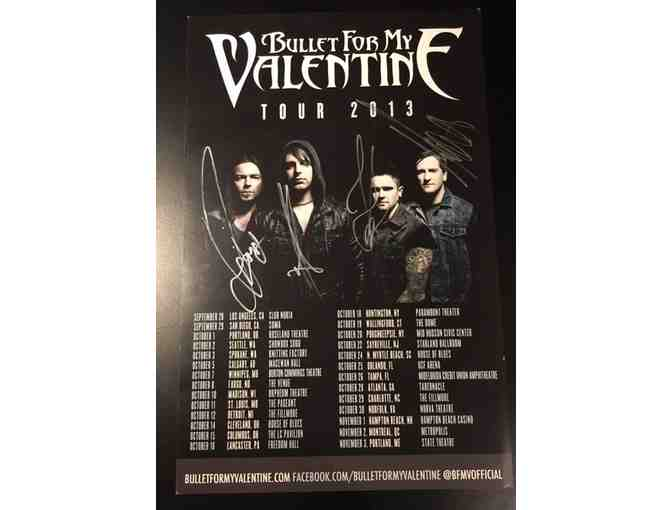 BULLET FOR MY VALENTINE autographed show flyer 8.5x11