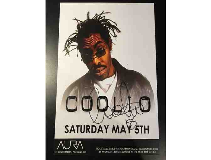 COOLIO autographed show flyer 8.5x11