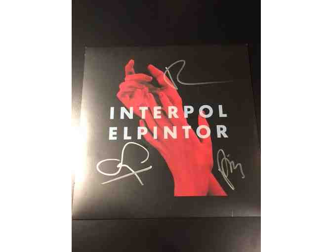 INTERPOL autographed vinyl record