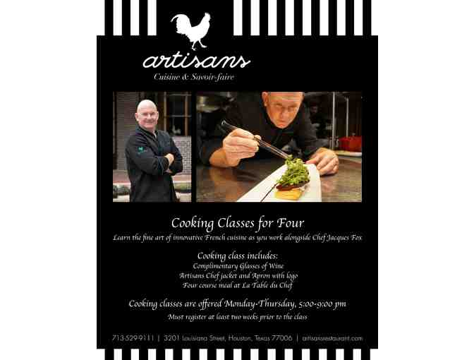 (1) Artisans Restaurant - Gastronomique 6 course Tasting Menu up to 10 guests-Houston, TX