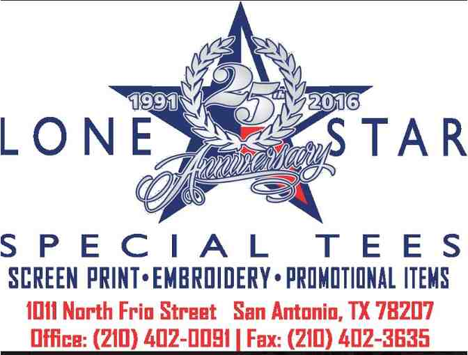 (1) Lone Star Special Tees, LLC - 100 custom designed Chaine Pins