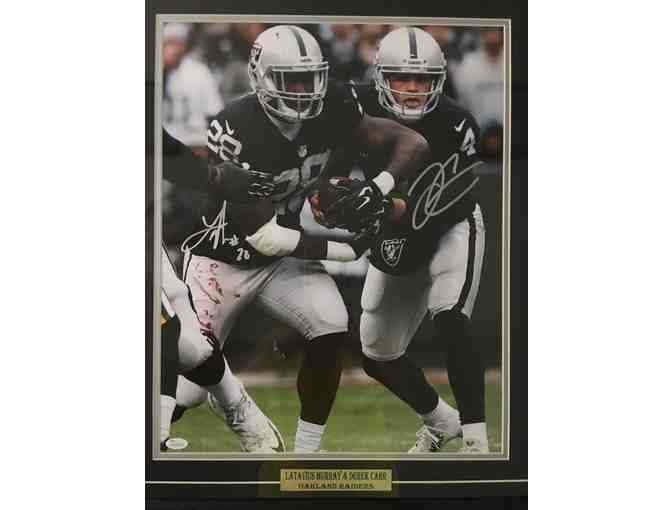 (1) Raider's Signed Photograph rare due the 'stain' on Murray's pants