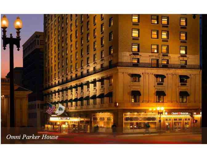 (2) Night stay for 2 at the Parker House in Boston, MA.