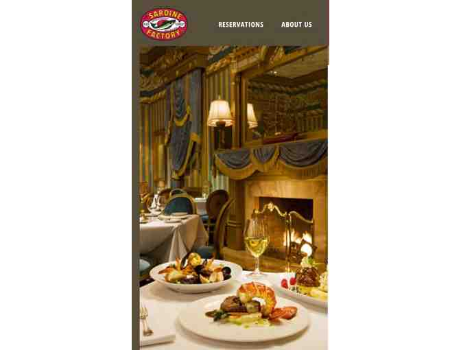 (2) Night stay at the Monterey Plaza Hotel and Spa and Dinner for 2 at the Sardine Factory