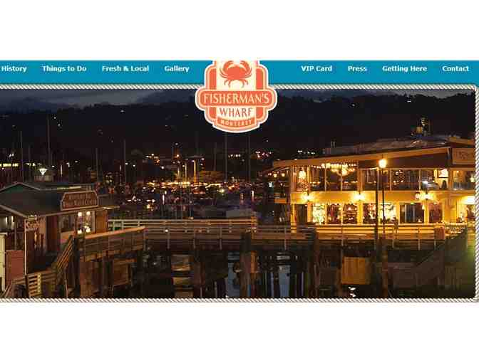 (1) Lobster Dinner and Wines for 4 at Fisherman's Wharf in Monterey, California