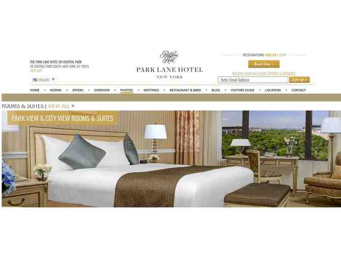 (1) Park Lane Hotel in New York, NY - One Night Stay for 2