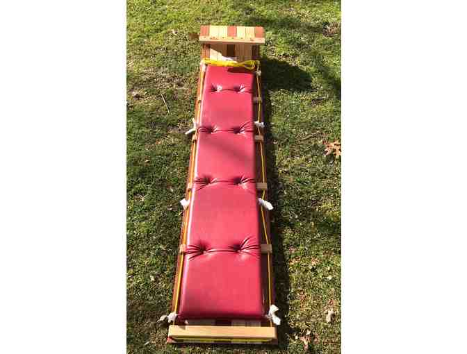 "6"" Wooden Toboggan with seat pad - Photo 2"