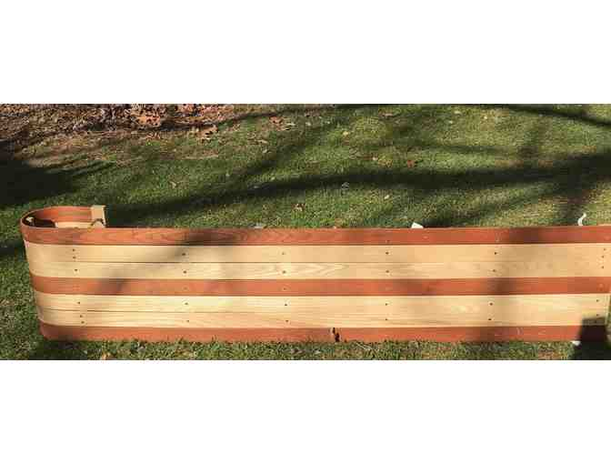 "6"" Wooden Toboggan with seat pad - Photo 4"