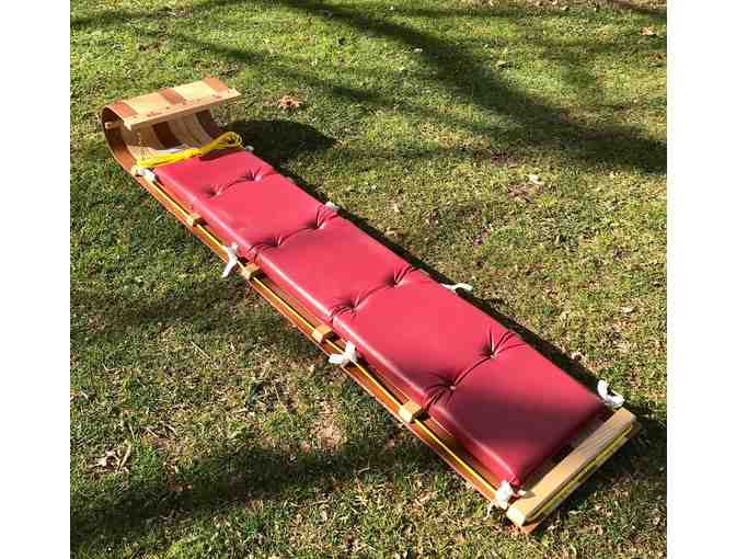 "6"" Wooden Toboggan with seat pad - Photo 1"