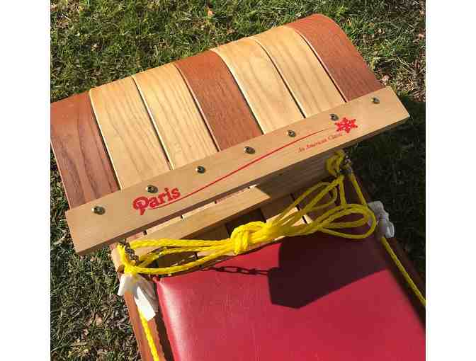 "6"" Wooden Toboggan with seat pad - Photo 3"
