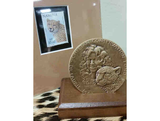 Collectible CCF Anniversary Bronze Medallion and Stamp