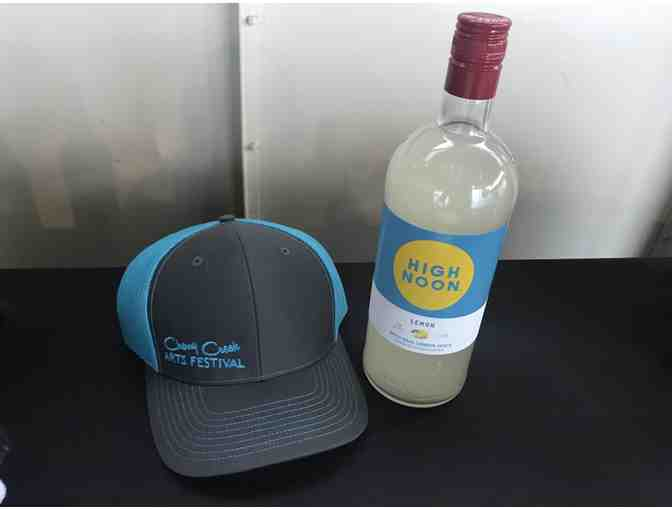 High Noon Lemon Vodka and CCAF Hat
