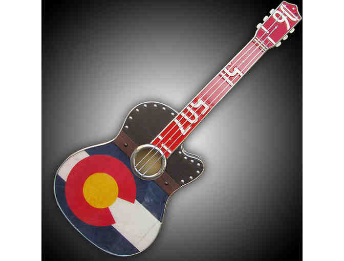 Todd Perkins 'Grunge CO Flag Guitar Sculpture Art'