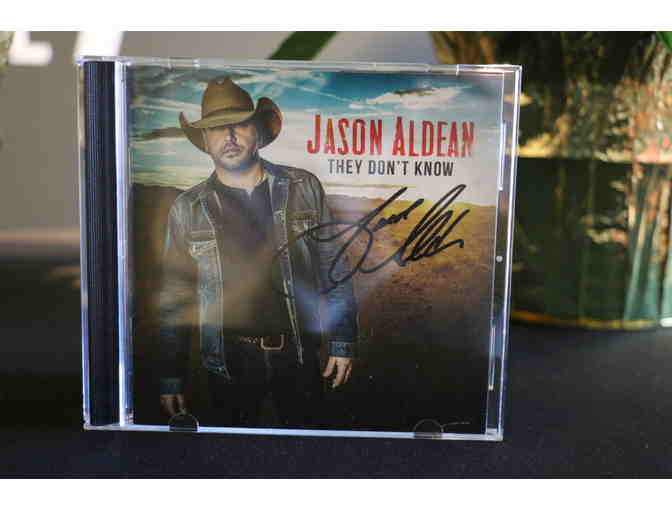 Autographed Jason Aldean They Don't Know Album 1