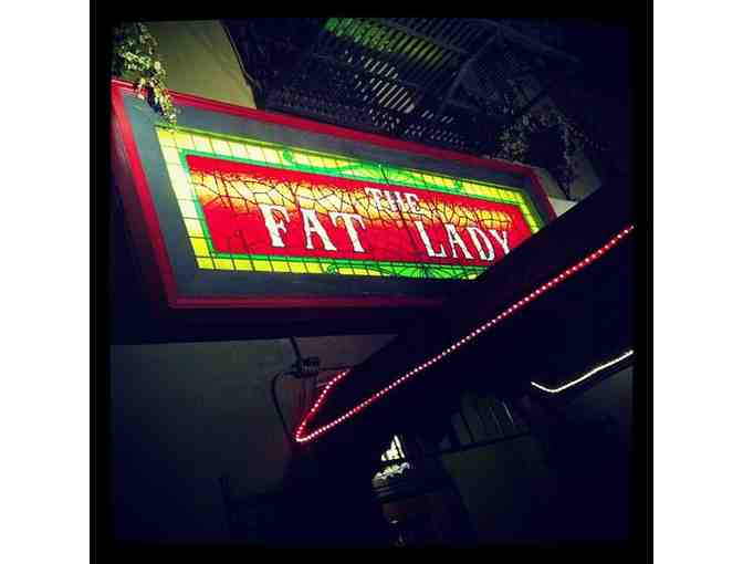 Gift Certificate to The Fat Lady Bar & Restaurant in Oakland