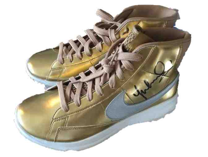 Michelle Wie autographed Limited Edition Nike Gold Blazer High-Tops
