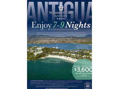7-9 Nights of Premium Accommodations at St. James' Club, Antigua
