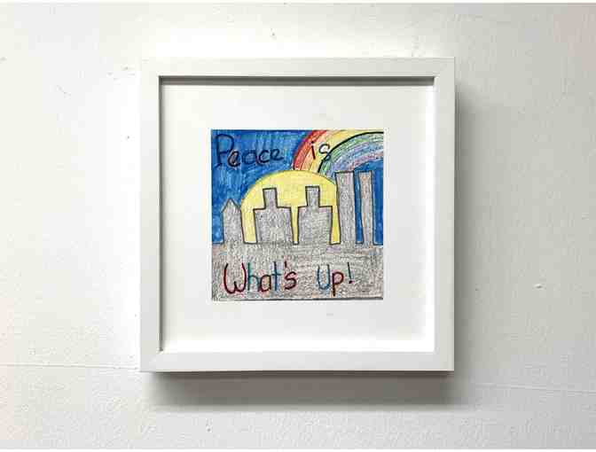 Framed print of a CITYarts Youth Pieces for Peace artwork - Photo 1