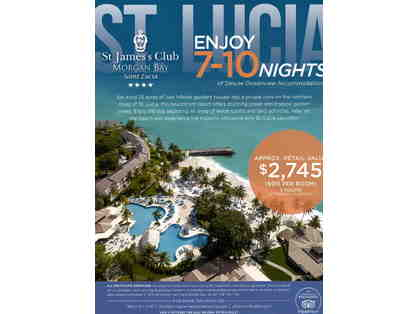 7-10 Nights of Deluxe Ocean-view Accommodations at St. Jame's Club, Morgan Bay Saint Lucia