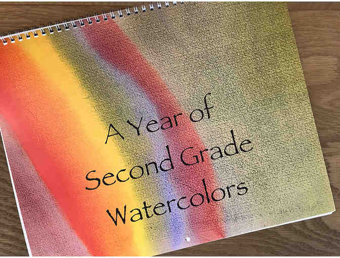A Year of Second Grade Watercolors Calendar