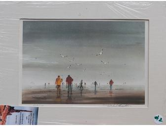 Watercolor by Artist Richard J. Hazelton 'Clamming'