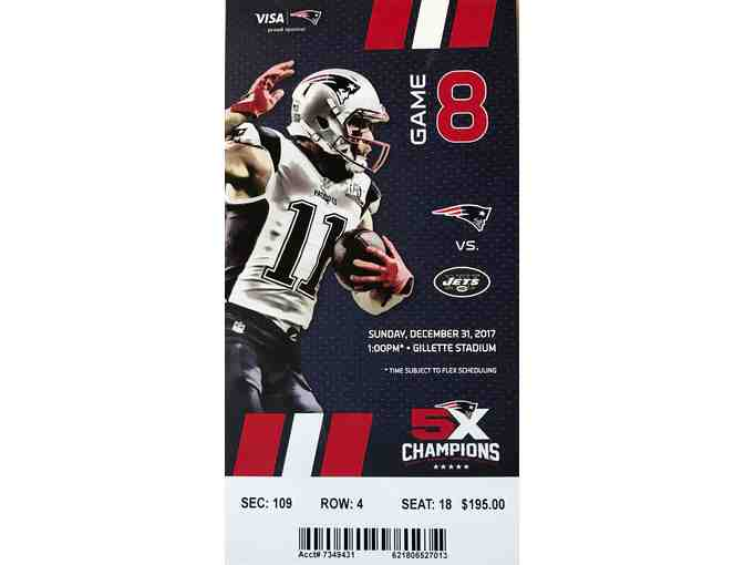 2 AMAZING TICKETS - NE PATRIOTS vs NY JETS - 4th ROW 50 YD. LINE!  ABSOLUTE BEST SEATS!!! - Photo 1