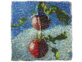 Two Apples Bead Embroidery