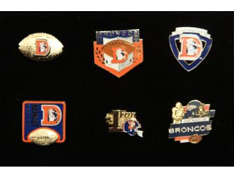 Denver Broncos 6 Pin Set