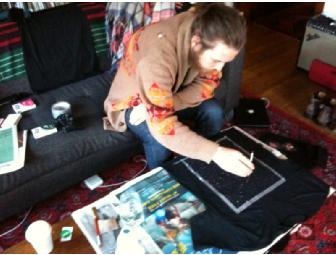 Robin Pecknold of Fleet Foxes decorated T-Shirt