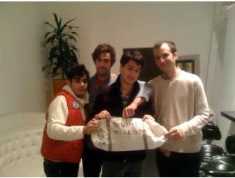 Vampire Weekend Tote Bag signed and decorated by all band members