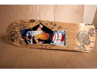 Cedric Bixler-Zavala of The Mars Volta decorated Skateboard