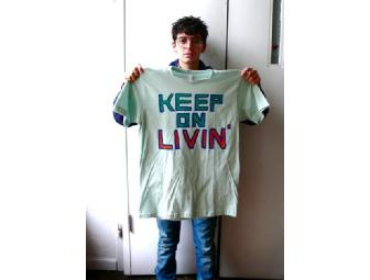 JD Samson of Le Tigre decorated T-Shirt