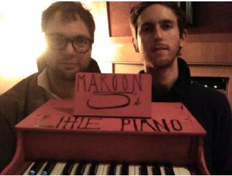 Maroon 5 decorated Mini Toy Grand Piano, signed by all band members