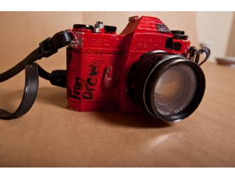 Drew Barrymore signed and decorated Honeywell Pentax Film Camera