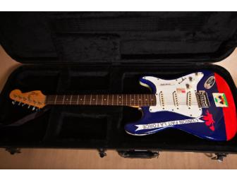 Conor Oberst of Bright Eyes signed & painted Fender Squire II Stratocaster electric guitar