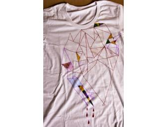 Feist one-of-a-kind shirt, decorated by Leslie Feist